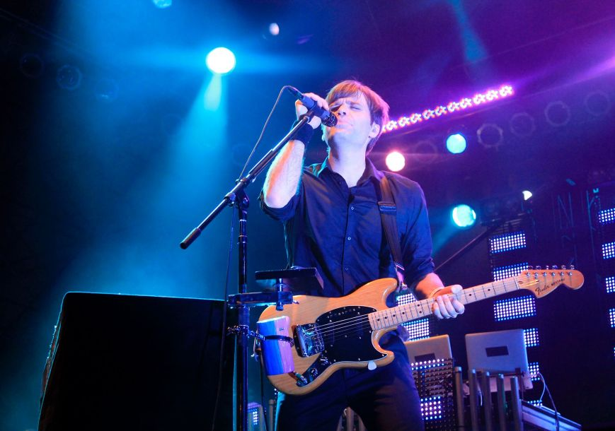 Ben Gibbard performing with The Postal Service at 2013 Free Press Summer Fest in Houston