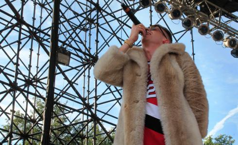 Macklemore performing at 2013 Free Press Summer Fest in Houston