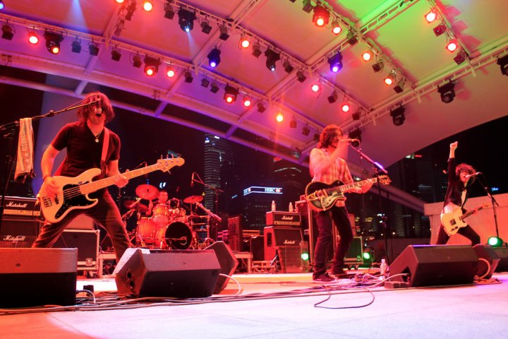 A crowd favorite from Japan, Nothing to Declare, at Baybeats music festival.