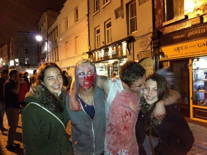We found ourselves in the middle of the annual zombie walk. They were pretty into their characters.