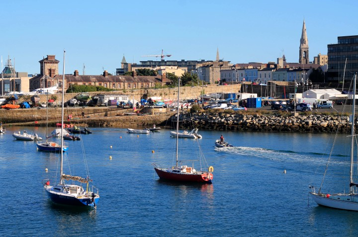 The port of Dun Laoghaire was a peaceful change of pace from Dublin.