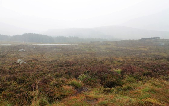 A short and rainy stopover in the Wicklow Mountains.