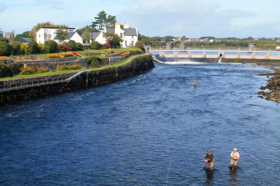 Men fly fishing in Galway.