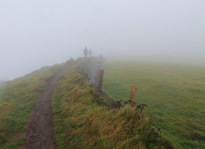 Irish weather is unpredictable. Unfortunately, this is what we saw of the cliffs on our visit.