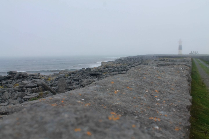 The path to a lighthouse on Inis Oírr.