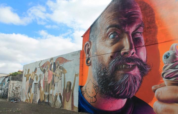 Intricate street art in Limerick.