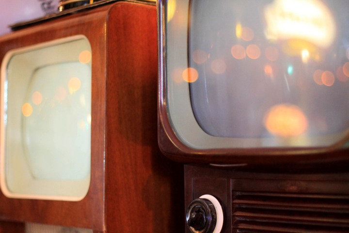 Old televisions at the quaint Museum of Vintage Radio in Howth.