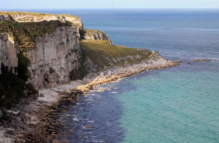 The Antrim Coast, near Giant's Causeway on the northeast coast of Ireland.