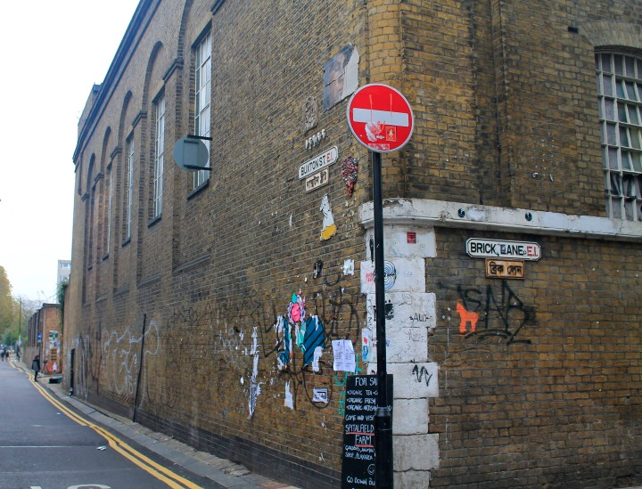 Brick Lane is lined with vintage stores and curry houses. An eccentric crowd flocks to its popular weekend vintage and food markets.