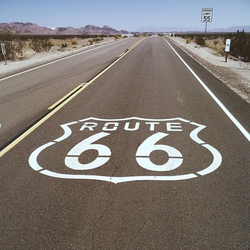 Driving to Joshua Tree on Route 66