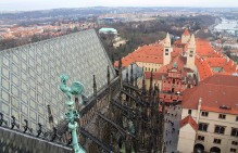 We climbed HUNDREDS of winding steps to get to the top of St. Vitus Cathedral overlooking Prague Castle. Was it worth it?