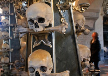 One of Kutna Hora's main attractions is the Sedlec Ossuary, or bone church.