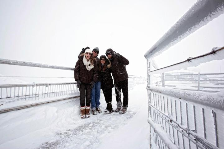 The fam at Zugspitze, Germany's highest peak, in 2012.