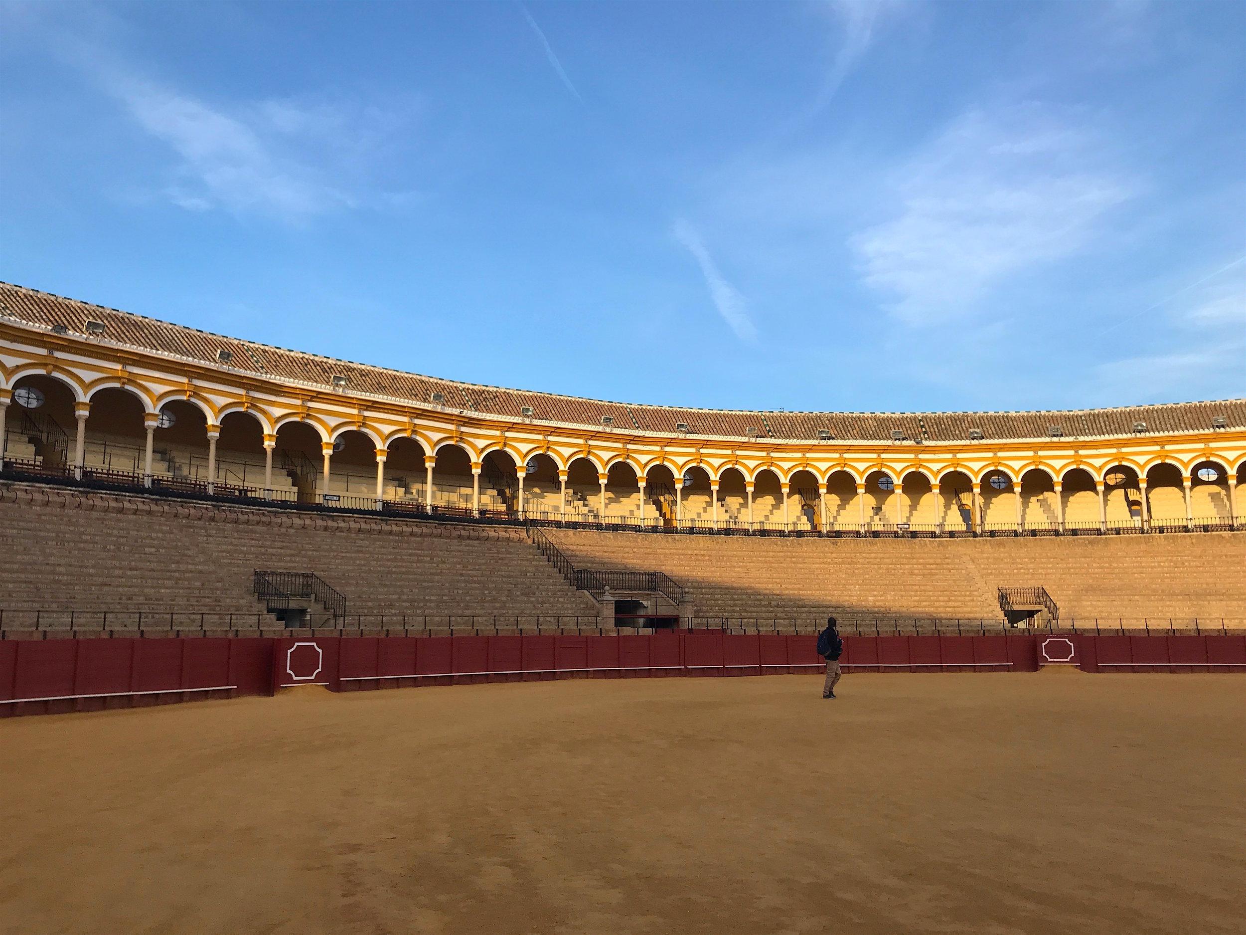 Maestranza bullring in Sevilla, Spain